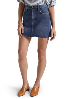Current/Elliott The Mini Cutoff Denim Miniskirt (Reese)