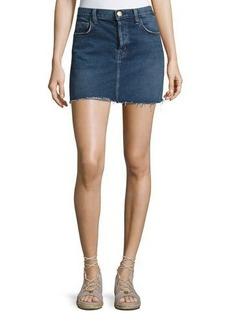 Current/Elliott The Mini Cutoff Denim Skirt