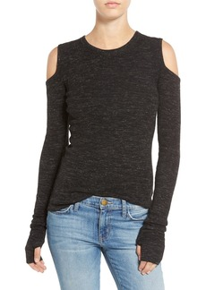 Current/Elliott 'The Mélange' Cold Shoulder Sweater