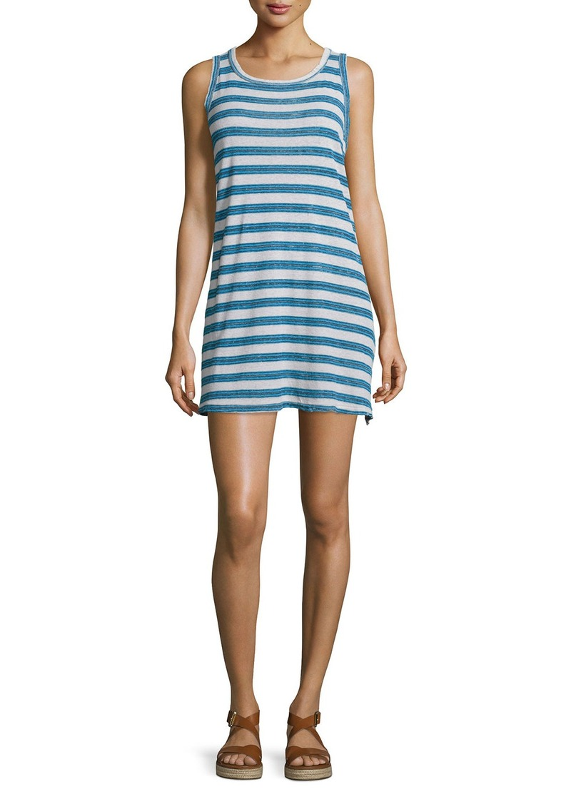 Current/Elliott The Muscle Tee Striped Tank Dress