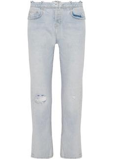 Current/Elliott The Original Straight distressed high-rise jeans