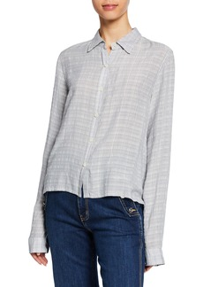 Current/Elliott The Pearl St Striped Button-Down Shirt