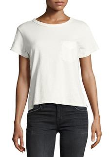 Current/Elliott The Perfect Pocket T-Shirt  Ecru