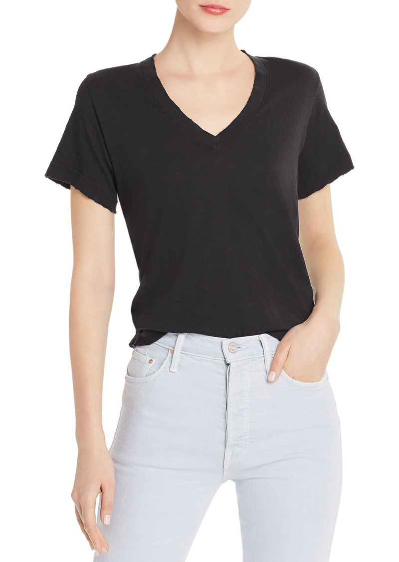 Current/Elliott The Perfect Distressed-Trim Tee