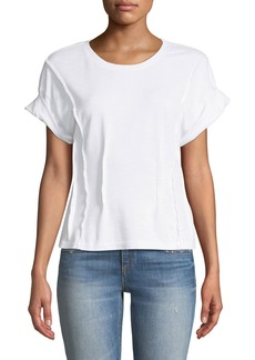 Current/Elliott The Pintucked Short-Sleeve Tee