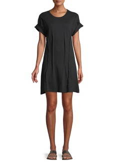 Current/Elliott The Pintucked Short-Sleeve Tee Dress