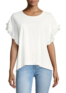 Current/Elliott The Recrafted Flutter Sleeve Top