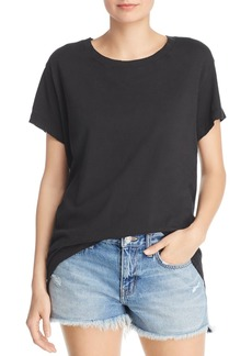 Current/Elliott The Relaxed Distressed-Trim Tee