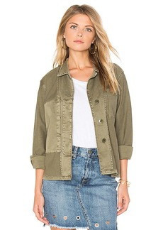 Current/Elliott The Reversed Military Shirt Jacket in Green. - size 0 / XS (also in 1 / S,3 / L)