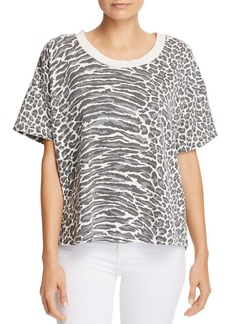 Current/Elliott The Roadie Leopard Print Tee