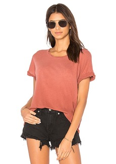 Current/Elliott The Rolled Crew Tee in Rose. - size 1 / S (also in 2 / M,3 / L)