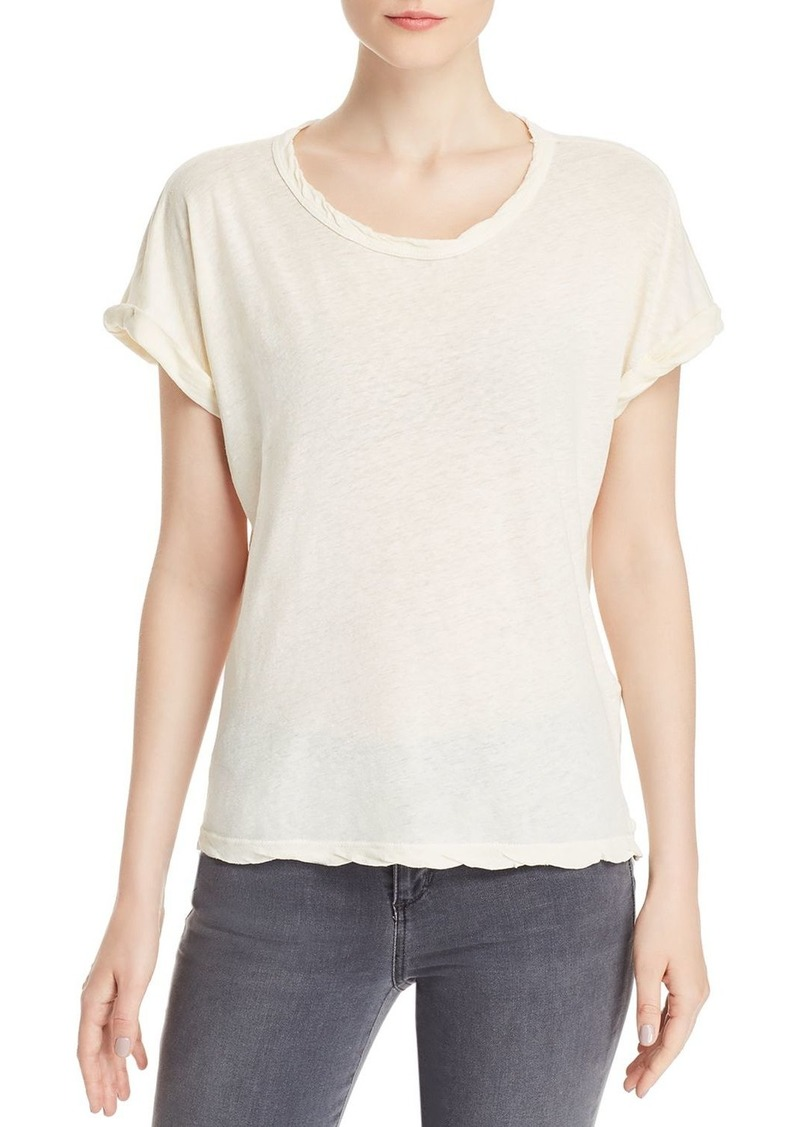 Current/Elliott The Rolled Twisted-Trim Tee