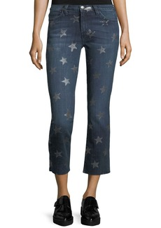 Current/Elliott The Rollin Mid-Rise Straight-Leg Cropped Jeans