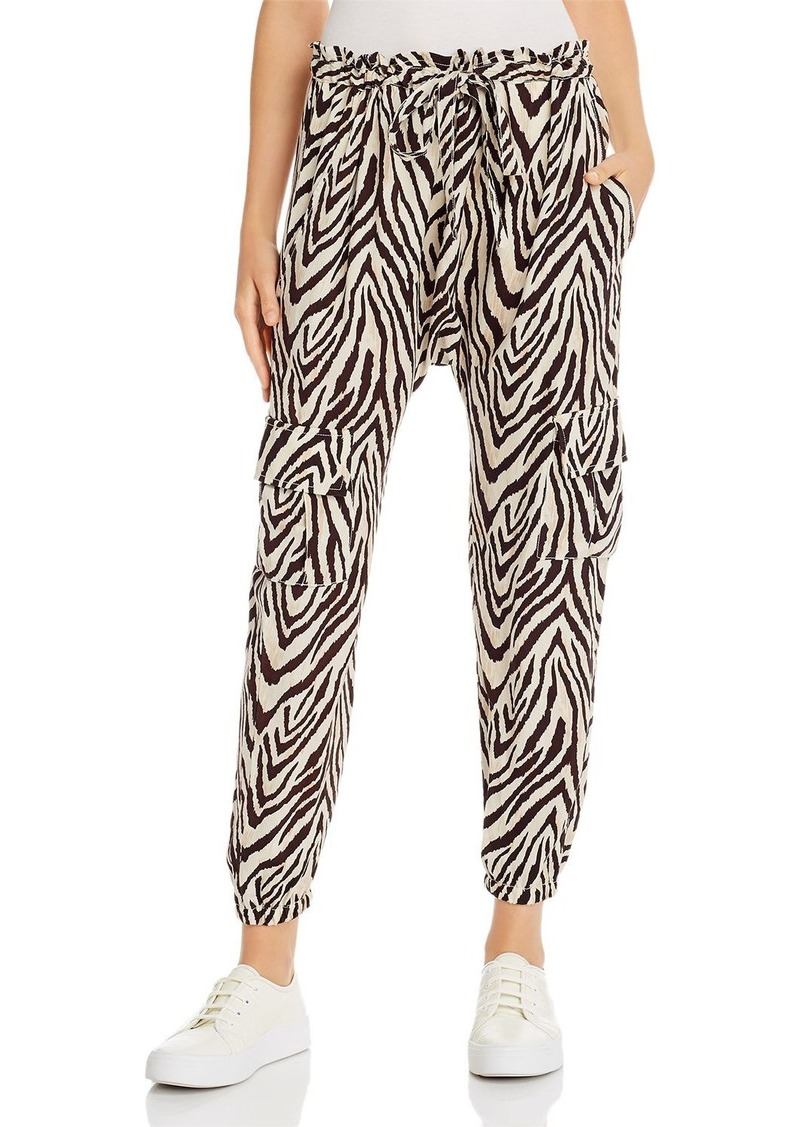 Current/Elliott The Roxwell Zebra Print Cargo Pants