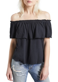 Current/Elliott The Ruffle Off the Shoulder Top
