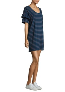Current/Elliott The Ruffle Roadie Cotton T-Shirt Dress