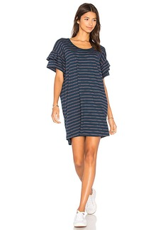 Current/Elliott The Ruffle Roadie Dress in Navy. - size 0 / XS (also in 1 / S,2 / M)