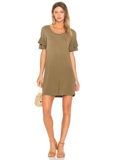 Current/Elliott The Ruffle Roadie Dress in Olive. - size 1 / S (also in 0 / XS,2 / M)