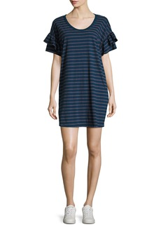 Current/Elliott The Ruffle Roadie Short-Sleeve T-Shirt Dress