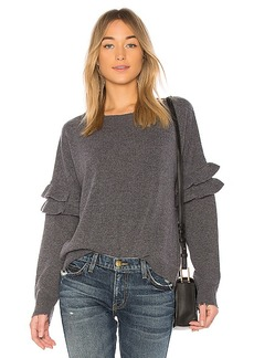 Current/Elliott The Ruffle Sweater in Gray. - size 0 / XS (also in 1 / S,2 / M,3 / L)