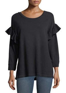 Current/Elliott The Ruffle Sweatshirt
