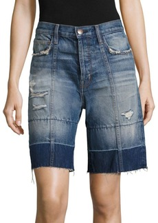 Current/Elliott The Seamed Denim Bermuda Shorts