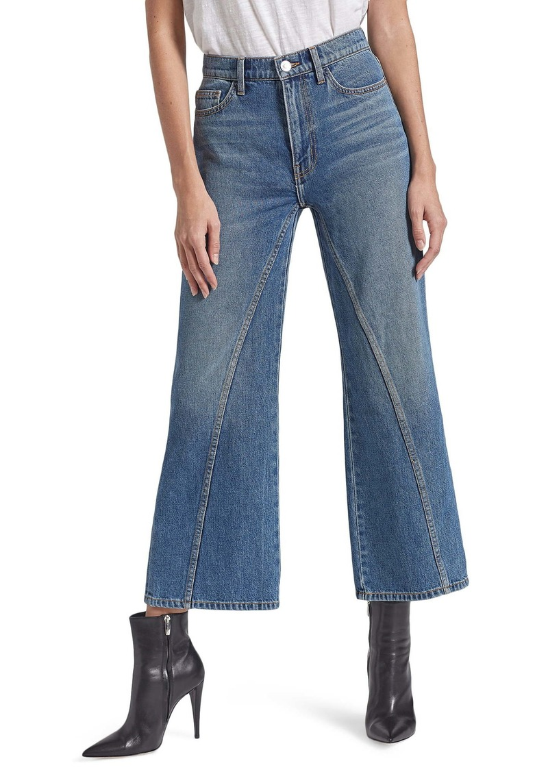 Current/Elliott The Seamed High Waist Crop Wide Leg Jeans (Fetzner)