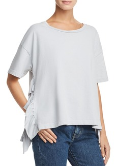 Current/Elliott The Side-Slit Ruffled Tee