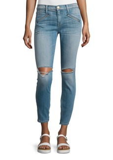 Current/Elliott The Silverlake Zip Cropped Skinny Jeans