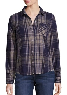 Current/Elliott The Slim Boy Plaid Shirt