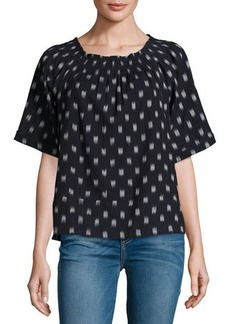 Current/Elliott The Smock Dotted Ikat Tee