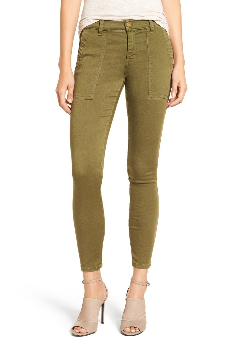 Current/Elliott 'The Station Agent' Skinny Twill Pants (Army Green)