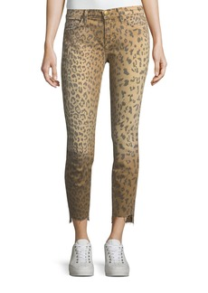 Current/Elliott The Stiletto Animal-Print Skinny Jeans