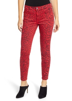 Current/Elliott The Stiletto Ankle Skinny Jeans (Red Warped Species)