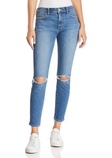 Current/Elliott The Stiletto Distressed Ankle Skinny Jeans in 2 Year Destroy Stretch Indigo