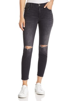 Current/Elliott The Stiletto Distressed Ankle Skinny Jeans in 2 Year Destroy Stretch Black