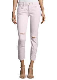 Current/Elliott The Stiletto Distressed Skinny Jeans