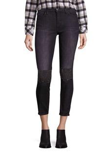 Current/Elliott The Stiletto Embellished Skinny Jeans
