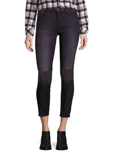 Current/Elliott The Stiletto Embellished Skinny Jeans