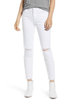 Current/Elliott The Stiletto High Waist Ankle Skinny Jeans (2 Year White)