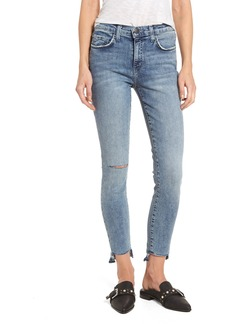 Current/Elliott The Stiletto High Waist Ankle Skinny Jeans (Balsa Destroy)