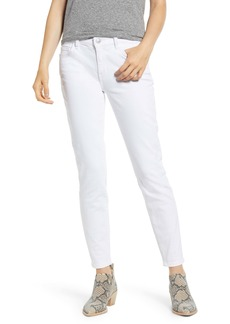 Current/Elliott The Stiletto High Waist Ankle Skinny Jeans (Clean White)
