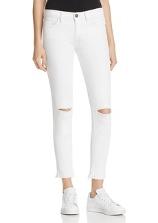 Current/Elliott The Stiletto Jeans in Sugar with Knee Slits