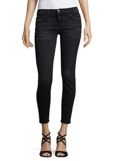 Current/Elliott The Stiletto Mid-Rise Cropped Jeans