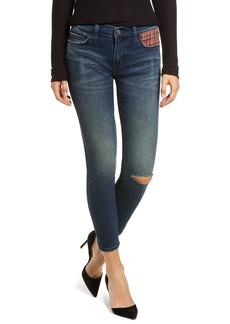 Current/Elliott The Stiletto Skinny Jeans (Erwin Red Tartan)
