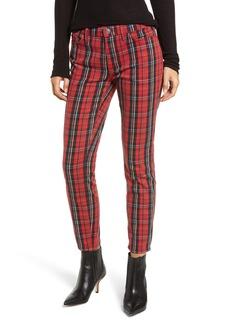 Current/Elliott The Stiletto Skinny Jeans (Red Tar Plaid)