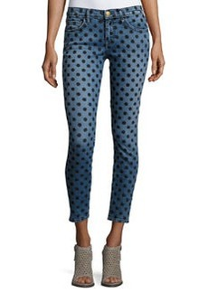 Current/Elliott The Stiletto Skinny Jeans w/Flocked Dots