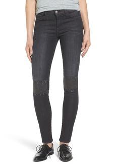 Current/Elliott The Stiletto Studded Patch Skinny Jeans (Montrose)