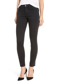 Current/Elliott 'The Stiletto' Studded Skinny Jeans (Tar)