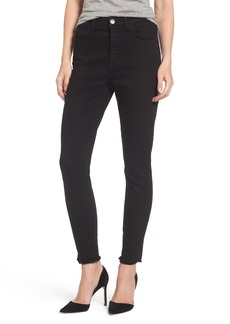 Current/Elliott The Super High Waist Stiletto Ankle Skinny Jeans (Jet Black)